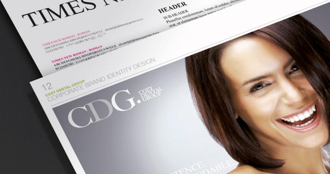 Cozy Dental Group Branding Design