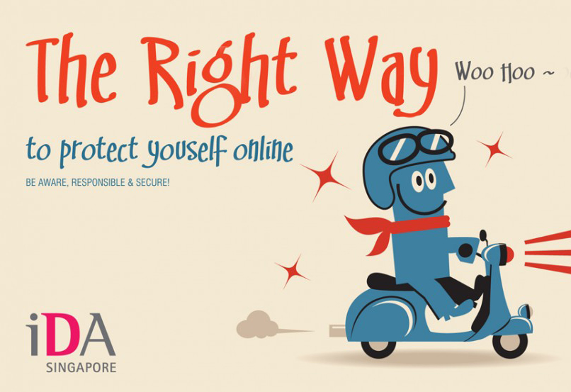 IDA Singapore Online Security Awareness Programme Brochure Design